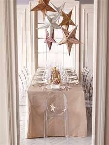 Hang stars over refreshment table