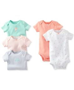 6c3602e373 Carter s Baby Girls  5-Pack Bodysuits Kids - Macy s