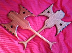 Mighty Axes of Spanking. All kinds of bumpy, pointy and scratchy surfaces for sensation play too. www.alexanderspaddles.com