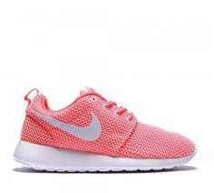 Nike Sportwear Mujer Roshe Run - Knit Coral & blancas Entrenadores Venta Oficial 2015