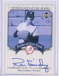 2003 UDA COA Signature Pride Ron Guidry Hand Signed Autograph New York Yankees | eBay