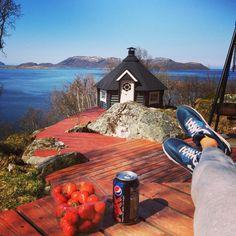 Enjoying life! #airmax #nike #pepsi #strawberry