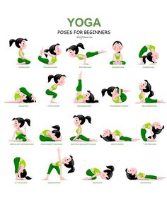 20 Easy Yoga Poses for Beginners with a Free Printable - Nerdy Mamma. >> Check out more at the picture