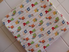 Adorable ABC's Cotton Flannel Baby Blanket by TheCountryBluebird