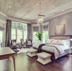 63 Gorgeous Farmhouse Master Bedroom Design Ideas Farmhouse is in, and for good reason. Bring it on your master bedroom design ideas is a great ideas. Farmhouse Master Bedroom, Master Bedroom Design, Dream Bedroom, Home Decor Bedroom, Modern Bedroom, Decor Room, Bedroom Country, Master Bedrooms, Bedroom Furniture