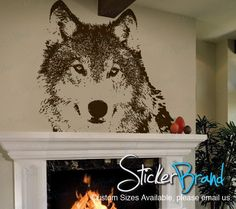 Vinyl Wall Art Decal Sticker Wolf Face. @April Stuart Cute for wolfy