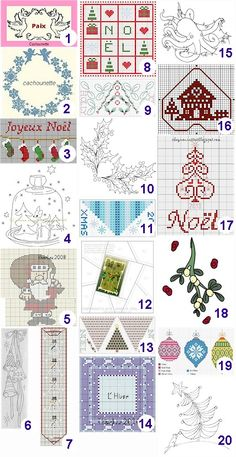 Awesome FREE cross stitch and stitchery patterns for Christmas