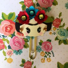 Frida Kahlo -  Planner Clip, Bookmark, Page clip, Kikki K, Kate Spade, The Happy Planner by CreativeCraftCo on Etsy https://www.etsy.com/listing/398614015/frida-kahlo-planner-clip-bookmark-page