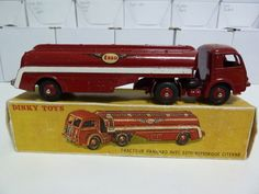 FRENCH DINKY TOYS NO.32c TRACTEUR PANHARD CITERN, ESSO TANKER, GLOSS RED