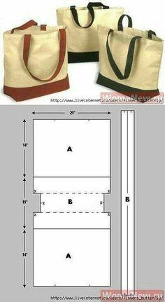17 Moldes de Bolsa de Tecido bem fáceis de fazer com retalhos de tecido