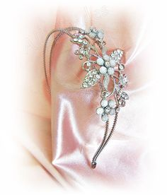 Rhinestone crystals headband bridal tiara bridal by All4Brides2