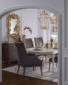 Shop Merrilynn Dining Chair from Massoud at Horchow, where you'll find new lower shipping on hundreds of home furnishings and gifts. Dining Room Table Decor, Dining Room Design, Living Room Decor, Dining Chairs, Home Interior Design, Interior Styling, Interior Decorating, Luxury Dining Room, Luxury Living
