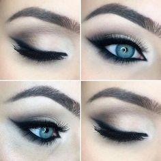 MAKE-UP Soft brown and beige cat eye, wedding makeup Make Me Up, How To Make, Brown Eyed Girls, Beauty Hacks, Beauty Tips, Gorgeous Makeup, Makeup Junkie, Wedding Makeup, Eye Makeup