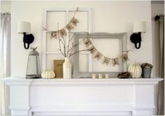 12 {more!} Fabulous Fall Mantles - love the draping of the banners