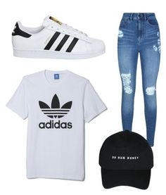 """Adidas with Jeans! <3"" by cxion ❤ liked on Polyvore featuring adidas and Lipsy"