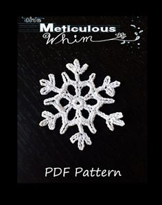 "Snowflake #1 by Marcela Roberts There's nothing like the delicate beauty of crochet snowflakes. Hang them on your Christmas tree, string them into a winter wonderland garland, or sew them onto a pillow for a ""cool"" holiday look. Approximate size: 2 3/4"""