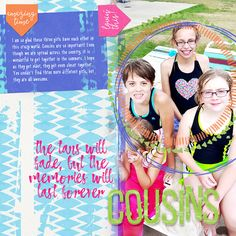 """If you see a kit and think, """"I love it, but I don't know how to use it,"""" then this article is for you! Anna shares quick tips for creating summer layouts."""