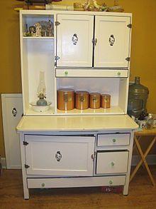 Hoosier Cabinet ....popular between 1898-1920u0027s kitchen storage and working & 505 best Hoosier Cabinets images on Pinterest | Vintage kitchen ...