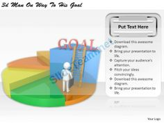 1113 3D Man on Way to His Goal Ppt Graphics Icons Powerpoint #Powerpoint #Templates #Infographics