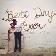 diy best day ever sign wedding decor inspiration Wedding Engagement, Our Wedding, Dream Wedding, Wedding Wishes, Wedding Bells, Marry You, Best Day Ever, Here Comes The Bride, Wedding Pictures