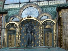 Art Nouveau; Otto Wagner villa at the edge of the Vienna woods.