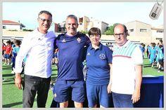 Enea Selis Giusy Fois  l'allenatore della Fiorentina Giovanni Vitali e Marco Piemonte durante la premiazione del 21 #TorneoManlioSelis #LeCoqSportifCup #SeliStars