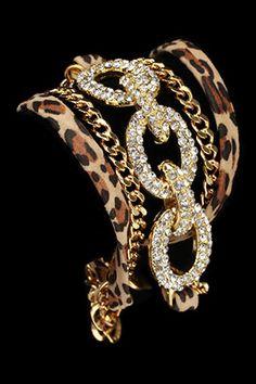 Leopard bracelets!  Love!