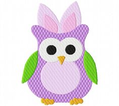 Easter Owl 2 5X7: Breezy Lane Embroidery Machine Embroidery Design