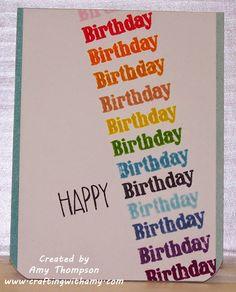 Crafting with Amy: Happy Birthday Birthday Birthday Birthday card