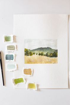 Watercolor Books, Watercolor Sketchbook, Watercolor Landscape Paintings, Watercolor Drawing, Art Sketchbook, Watercolor Illustration, Landscape Art, Abstract Watercolor Tutorial, Watercolor Artists