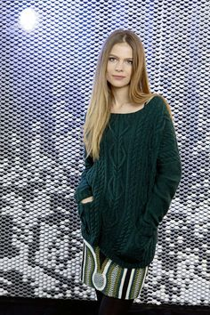 Lang Yarns FAM 224 pattern 6, cabled sweater in Nova