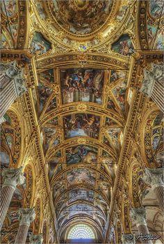 Basilica del Vastato, Italy.  The Basilica della Santissima Annunziata del Vastato is a Catholic cathedral in Genoa, Liguria Region, northern Italy; its decoration employed the major baroque studios and artists in Genoa in the 17th century.