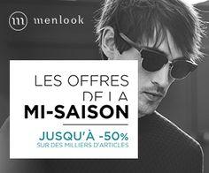 coupon-promo.fr : Les Offres de la Mi-Saison ont commencé sur Menlook ! Des milliers d'articles sont maintenant jusqu'à -50% ! http://www.coupon-promo.fr/reduction-Menlook-i855692.html
