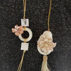 Diy Arts And Crafts, Book Crafts, Handmade Rakhi Designs, Rakhi Making, Rakhi Gifts, Flower Jewelry, Indian Jewelry, Crochet Stitches, Antique Jewelry