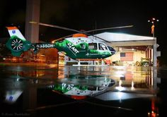 Dartmouth-Hitchcock's Lebanon, NH EC-135 P2+ N335DH posed under IFR conditions in front of the DHART hangar at Dartmouth-Hitchcock Medical Center. Picture Kevin Burkholder