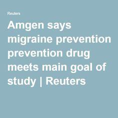 Amgen says migraine prevention drug meets main goal of study | Reuters