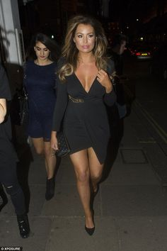 Jessica Wright puts on a glamorous display in little black dress | Daily Mail Online