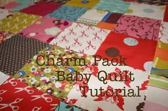 Diary Of A Quilter...Baby quilt tutorial. Lots of great instructions and quilting help!