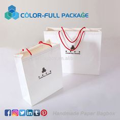 CMYK 4 Color Offset Printing promotional shopping paper bag
