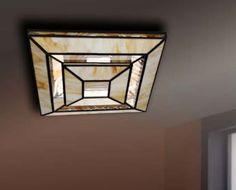 Plafones de techo Tiffany AURA PIRAMIDE. Iluminación Beltrán tu tienda Online en plafones artesanales en cristal.