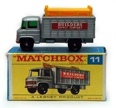 Matchbox Lesney Regular wheels Type F Box Mercedes Scaffold Truck Antique Toys, Vintage Toys, Toy Model Cars, Corgi Toys, Matchbox Cars, Hot Wheels Cars, Tin Toys, Plastic Model Kits, Classic Toys
