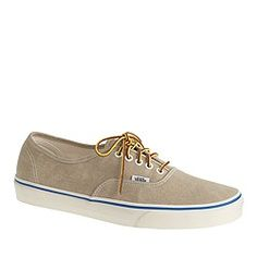 Unisex Vans® for J.Crew washed canvas authentic sneakers