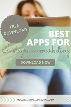 Download my guide to the nine best Instagram marketing apps including  apps for everything you need from creating graphics to tracking links.