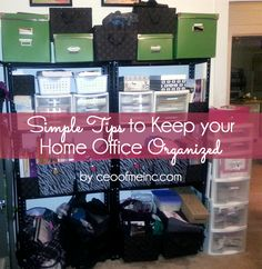 simple home office organization tips