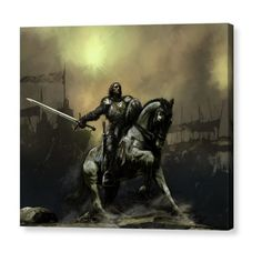 Shop for fantasy art from the world's greatest living artists. All fantasy artwork ships within 48 hours and includes a money-back guarantee. Choose your favorite fantasy designs and purchase them as wall art, home decor, phone cases, tote bags, and more! Medieval Knight, Medieval Fantasy, Fantasy Warrior, Fantasy Kunst, Fantasy Art, Fantasy Paintings, Paladin, Rhapsody Of Fire, Vikings