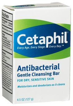Cetaphil Gentle Cleansing Bar, Antibacterial - 4.5 oz Cetaphil http://www.amazon.com/dp/B000052YKY/ref=cm_sw_r_pi_dp_4Ciiub183V9MF