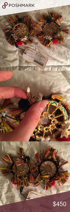 Clip on earrings Dolce & Gabbana clip on earrings. Never worn, still have tags! Dolce & Gabbana Jewelry Earrings