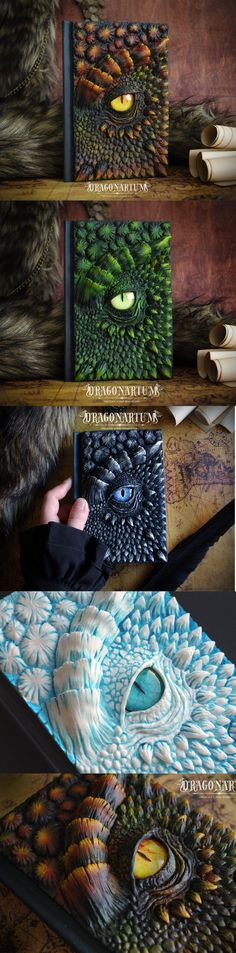 Dragon sketchbook - Black, Red, Green, Purple, Ice (and custom colors) - Dragonarium Dragon Eye, Green Dragon, Black Dragon, Book Of Shadows, Disappointed, Fantasy Creatures, Dungeons And Dragons, Drake, Sketching