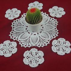 Set OF 7 Piece Handmade Crocheted Doilies coasters Mat&Pad Christmas decoration Christmas Napkin Folding, Christmas Napkins, Crochet Doilies, Hand Crochet, Cup Mat, Printed Napkins, Retro Chic, Crochet Earrings, Applique
