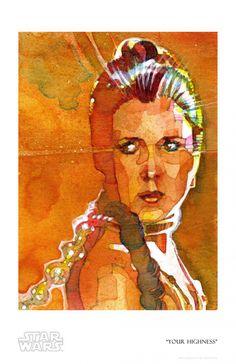 Your Highness Giclee by ACME Archives   Sideshow Fine Art Prints The Bounty Hunter Code, Indiana Jones, Boba Fett, Princess Leia, American Artists, Star Trek, Marvel, Hero, Fine Art